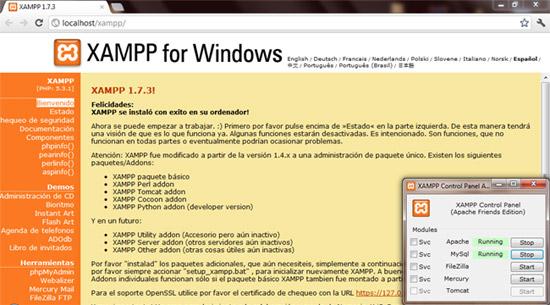 Entorno localhost Xampp